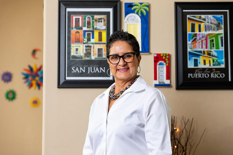 Portrait of Cecilia Maldonado the associate vice provost for workforce development