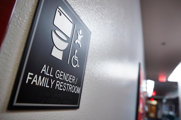All Gender/Family Restroom sign.