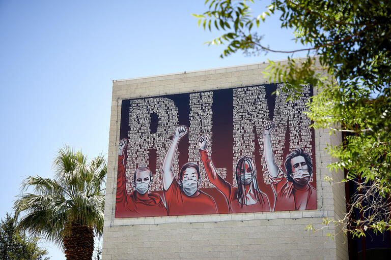 photo of BLM mural on building