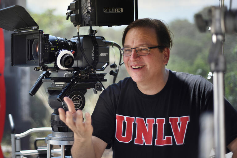 Portrait of Francisco Menendez artistic director of UNLV's film department