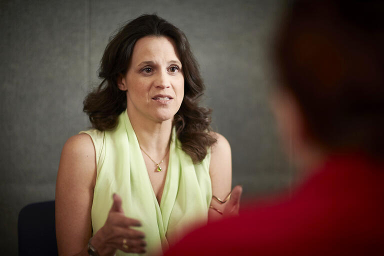 Katherine Hertlein speaking to a patient