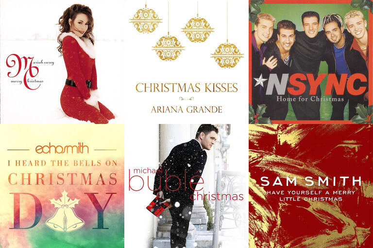 A selection of album covers from Mariah Carey, NSync, Michael Buble, Sam Smith and others