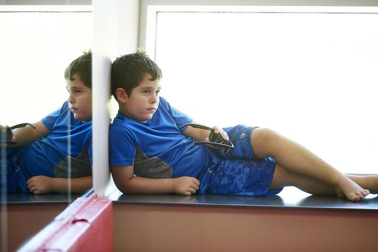 kid lounging