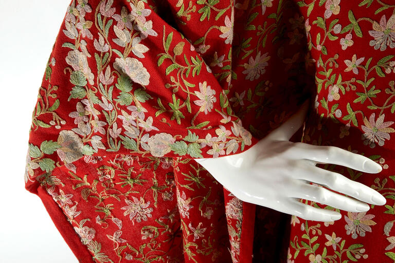 The jumpsuit may have originated as standard issue for airplane pilots in WWII, but its constant reinvention proves that utilitarian comfort can mesh with haute couture. This early piece by French designer — and Sidney favorite — Thierry Mugler features patch pockets and a drawstring waist but is made with hand-printed silk. (R. Marsh Starks/UNLV Photo Services)
