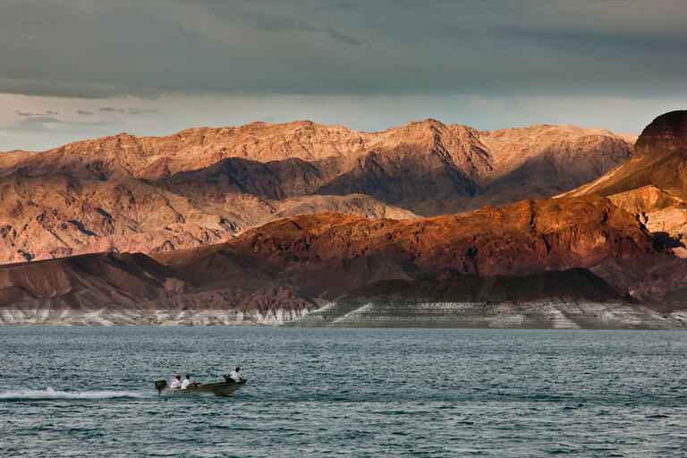 Photo of boat on Lake Mead