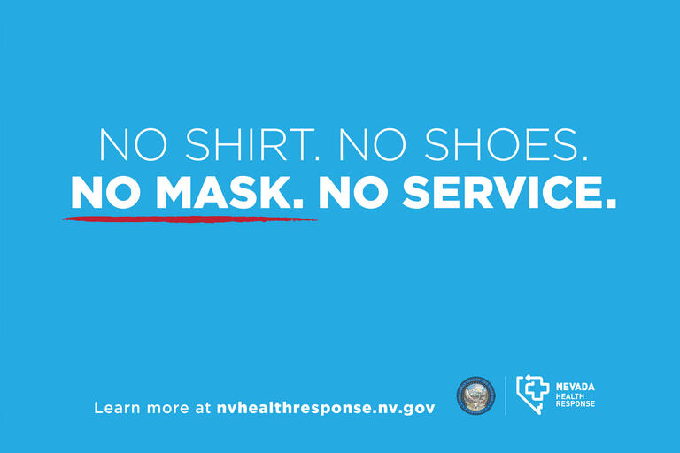 "A sign reading ""No shirt. No shoes. No mask. No service."""
