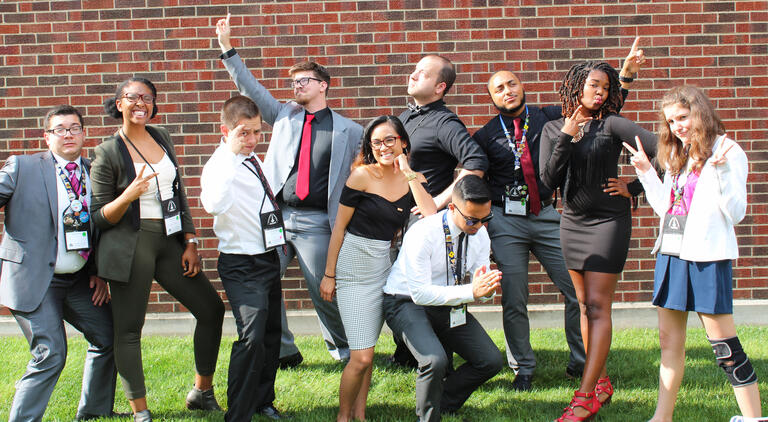 Residence Hall Association strike funny poses