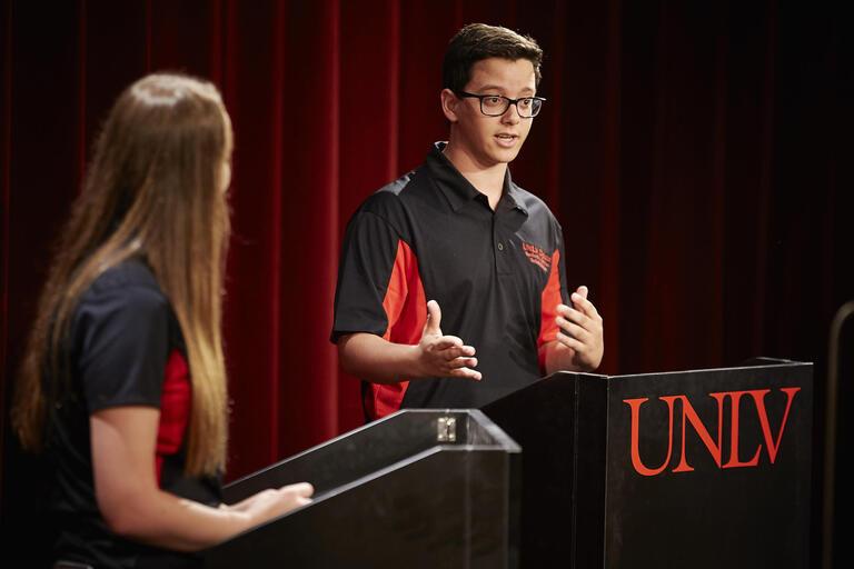 UNLV debate team members