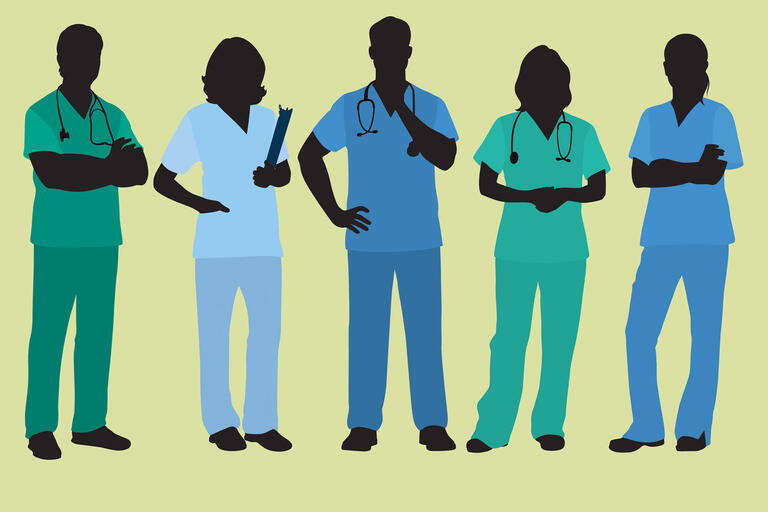 An illustration of nurses standing in a row