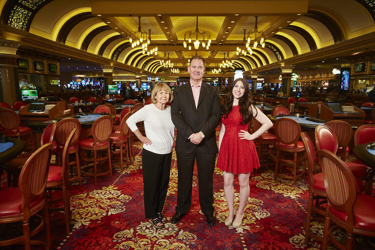 three people in casino