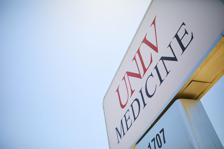 UNLV Medicine outdoor sign