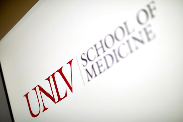 """UNLV School of Medicine"" sign"