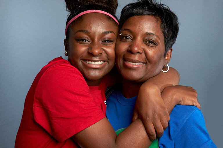 Emani Salih and her mother Charita Parrish