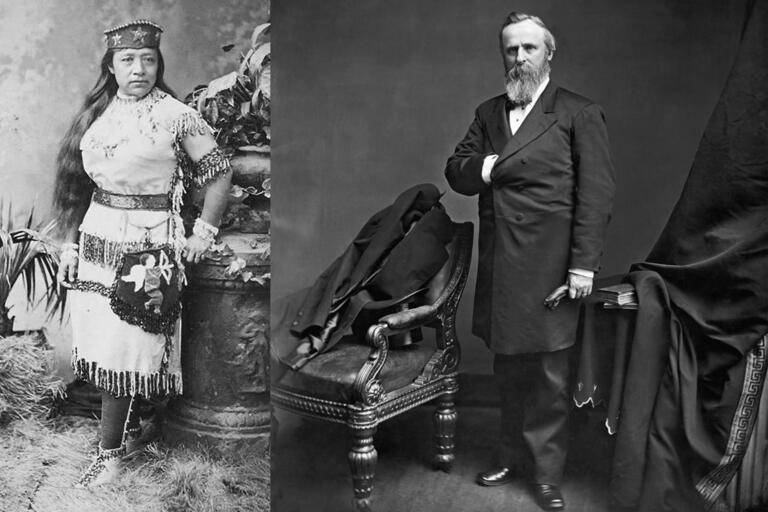 Sarah Winnemucca and Rutherford B. Hayes