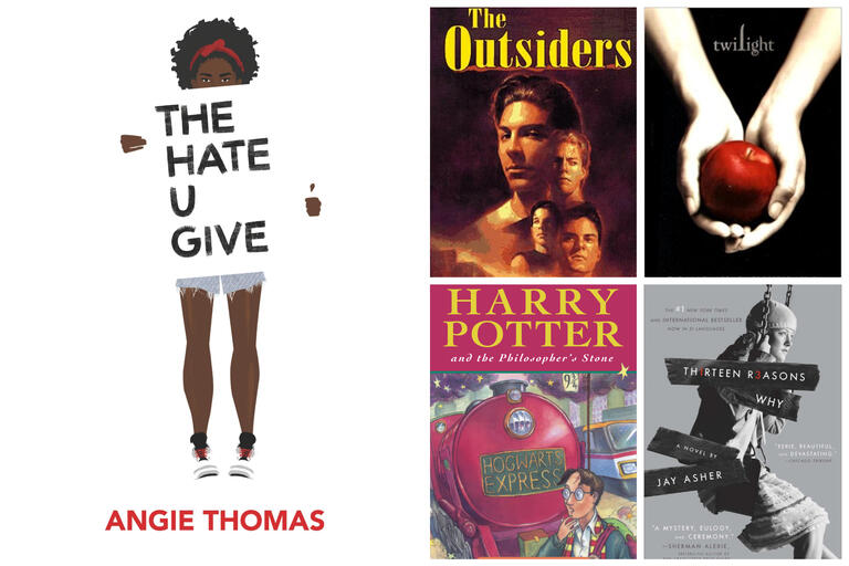The Hate You Give, The Outsider, Harry Potter and Twilight