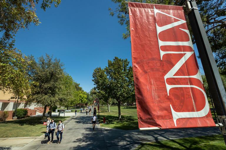 unlv banner on campus