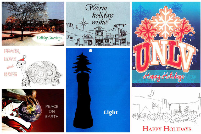 collage of holiday card images