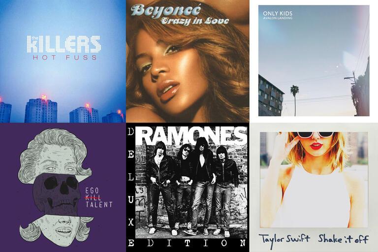 montage of album covers
