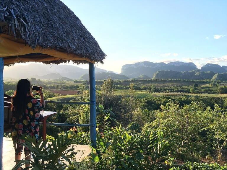 The hills of Vinales offered a look at the Cuban countryside.