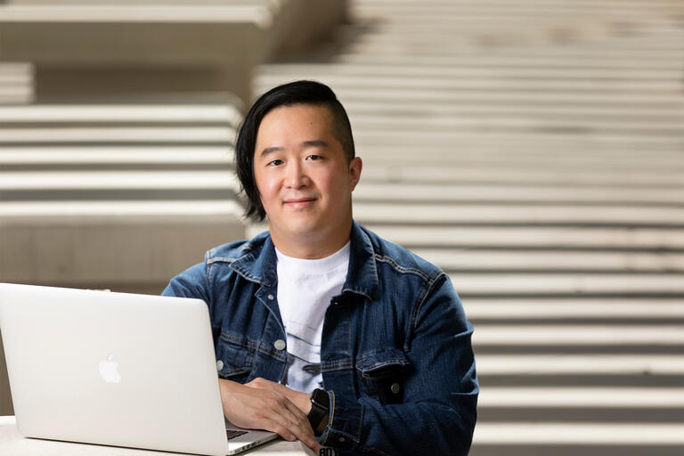 Portrait of James Cheng, the library data analyst for the UNLV Libraries