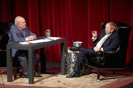 Arte Nathan speaks with Sheldon Adelson