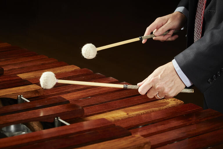 detail shot of marimba