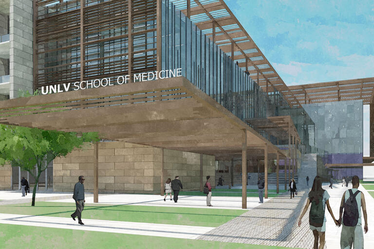 rendering for the School of Medicine building