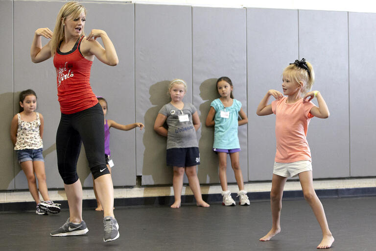 Children participate in Rebel Girls dance camp