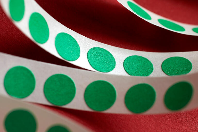 green dot stickers