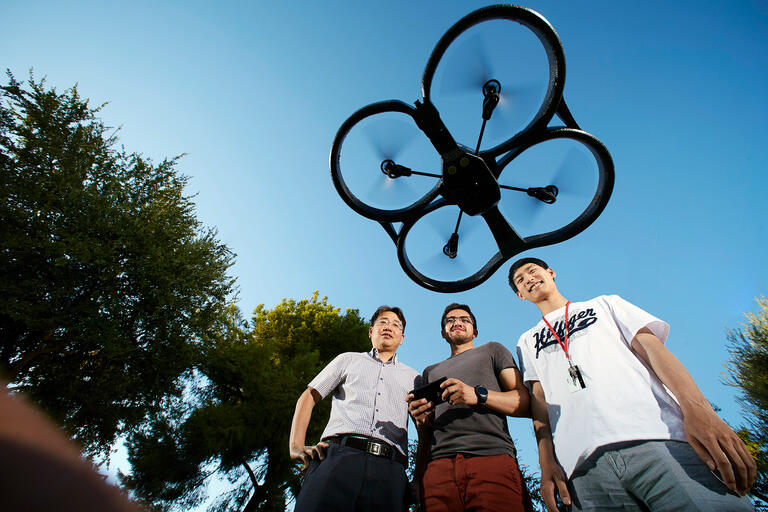 researchers test drone