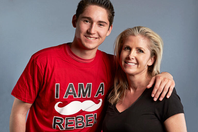 Chase Northrup with his mother Nancy