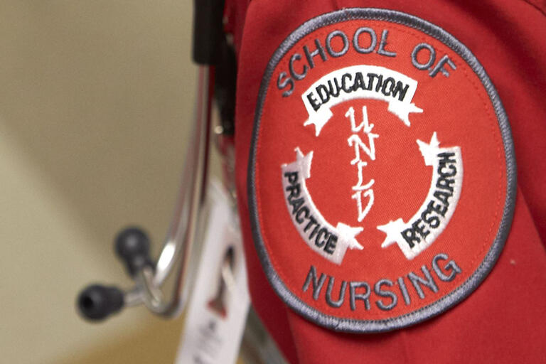 detail shot of nursing uniform