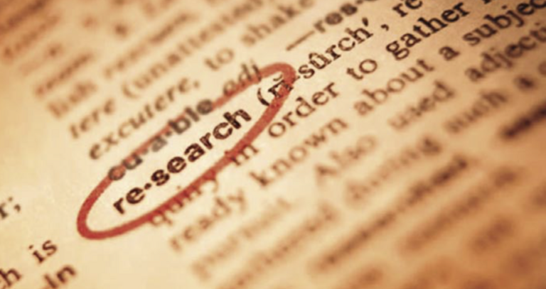 "Stock image of ""research"" dictionary entry"
