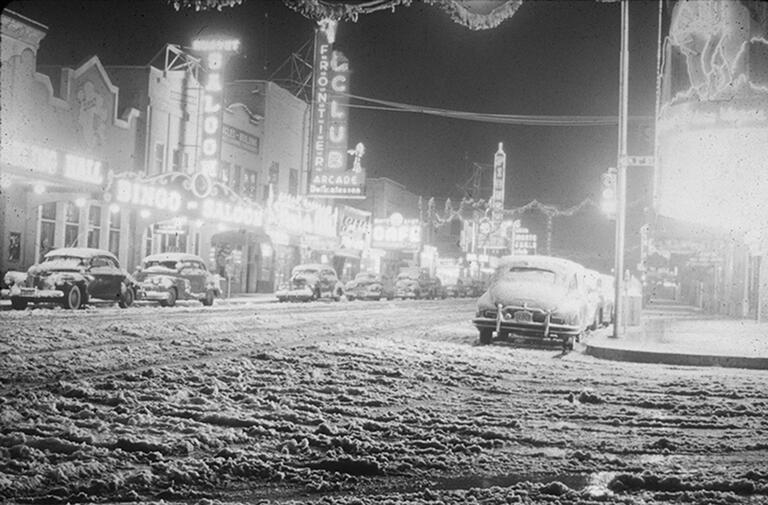 snow at fremont street