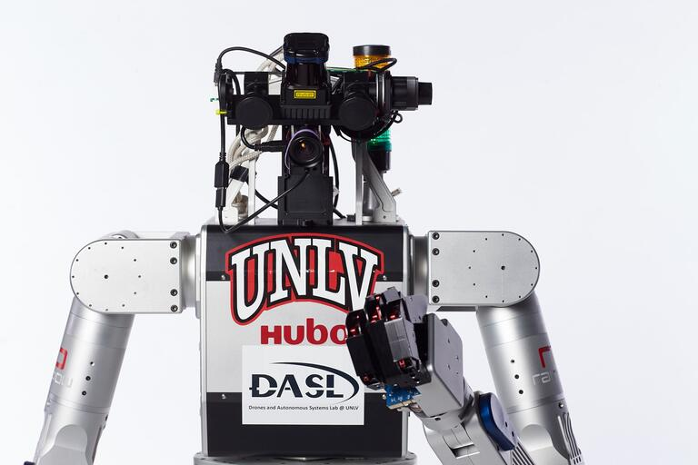closeup of robot