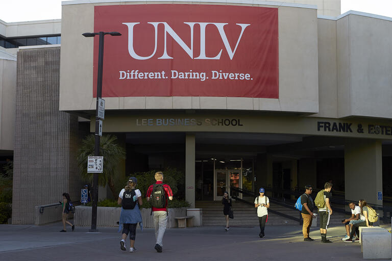 Beam Hall with UNLV signage