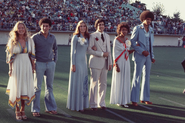 Homecoming royalty from 1976