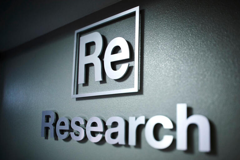 "signage that says ""research"""
