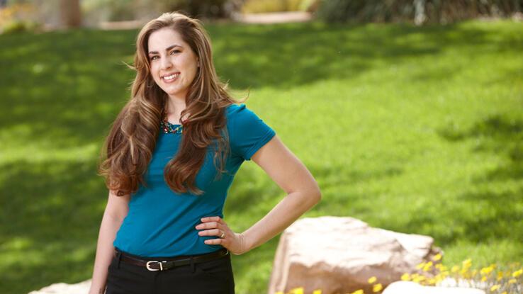 Sarah Bagnoli VanderMeer standing outdoors