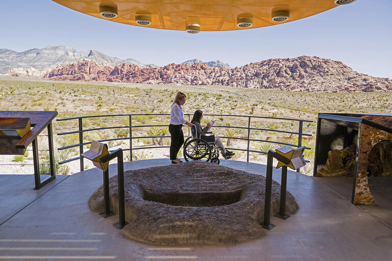 UNLV students evaluate wheelchair friendliness at Red Rock National Conservation Area