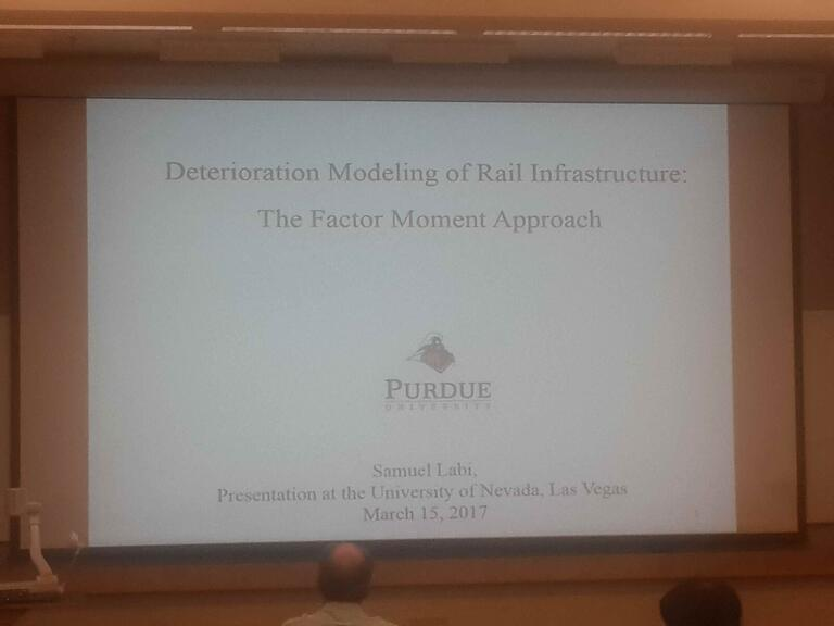 Photo of a PowerPoint Deterioration Modeling of Rail Infrastructure presentation