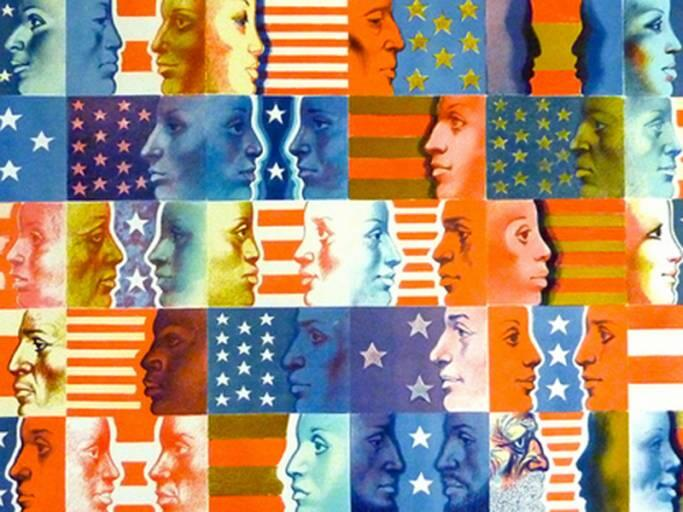 Collage from the Spirit of Independence exhibit