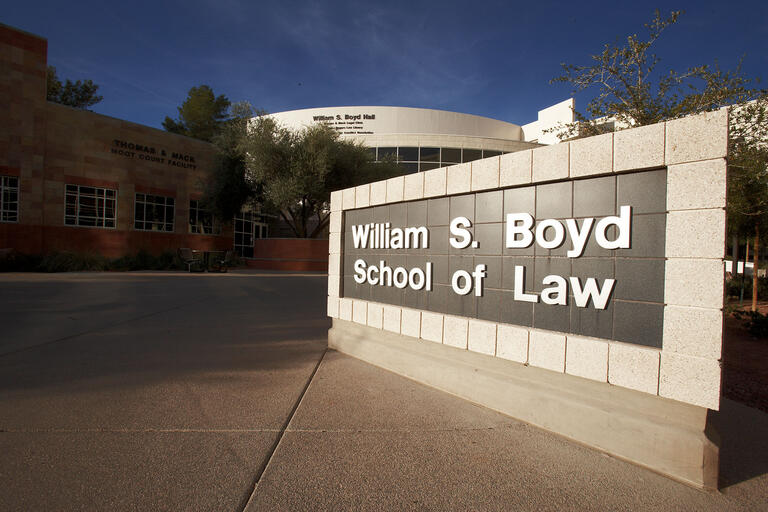 Boyd School of Law sign