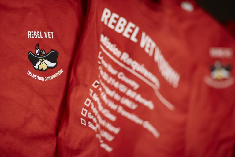 Red Rebel Vets shirt.