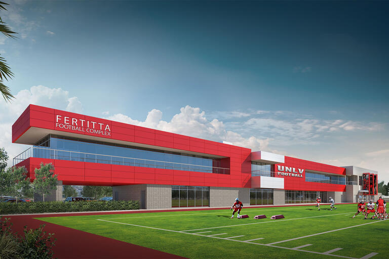 Rendering if the Fertitta Football Complex