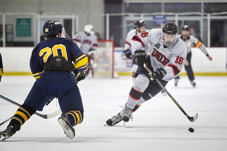 UNLV hockey team competes on the ice