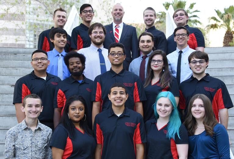 Debate team group photo