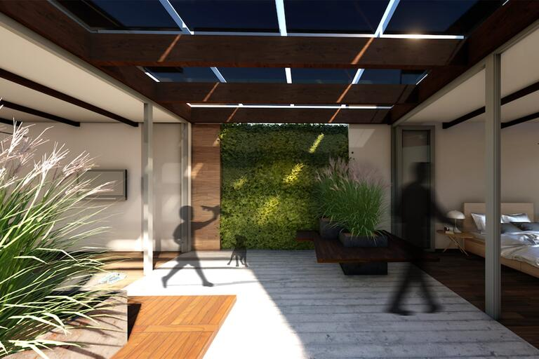 conceptual image of Team Las Vegas' 2020 Solar Decathlon home entry