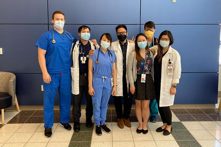 Internal Medicine residents smiling