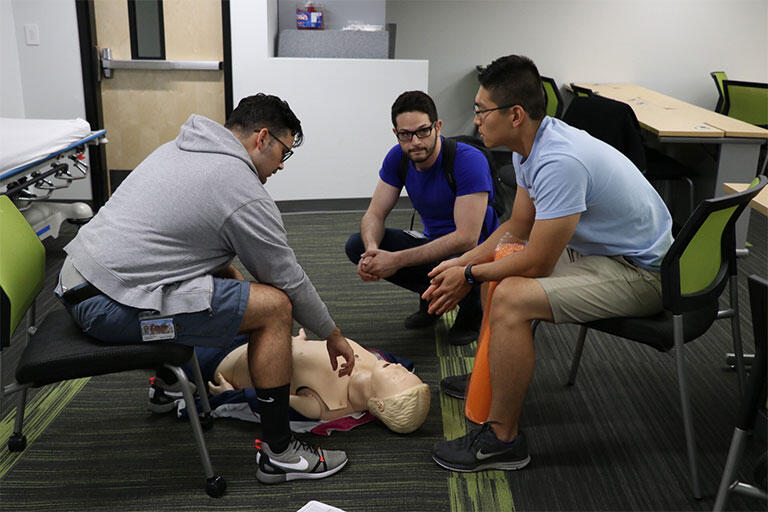 Th UNLV School of Medicine Charter Class during EMT training